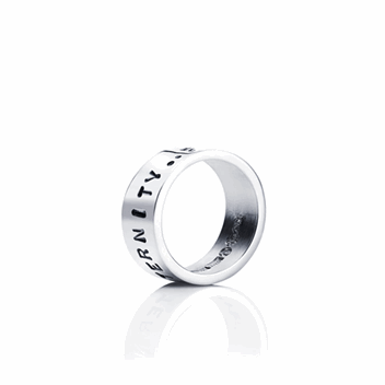 Stamped From Here To Eternity Ring